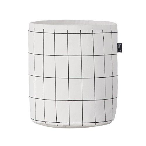 Ferm Living Grid Basket Wäschekorb Aufbewahrungskorb aus Baumwolle Durchmesser 22 cm