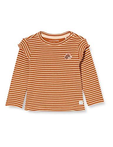 Noppies G Regular T-Shirt LS Pongola Y/d Str Camiseta, Óxido-P589, 50 para Bebés
