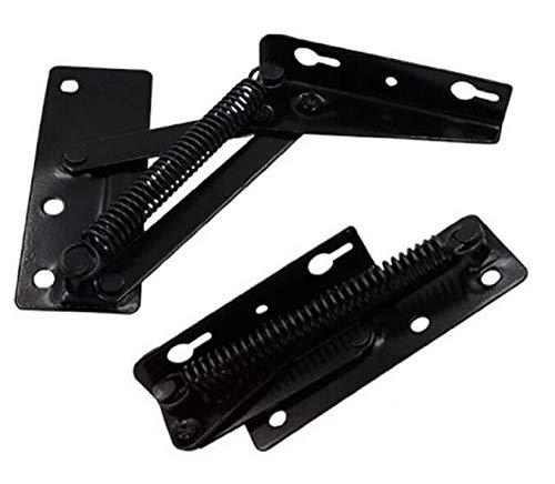 [2 Pieces] Folding Bed Lifting Hinge Sofa self-Locking Hinge Furniture Hardware Accessories (Black)
