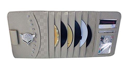PANDA SUPERSTORE Auto Accessories DVD/CD Storage DVD Wallet Car Auto Visor Organizer Holder Beige