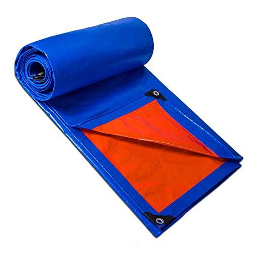 KTYX Schutz Flugzeug, Hochleistungsblaue Polyplanen Wasserdicht Ideal Für Planenüberdachung Zeltschutzabdeckung Wetterbeständig Stark Verstärkt,Blau,2mx2m
