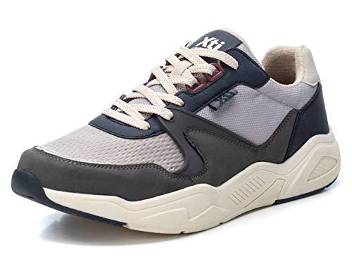 XTI - Zapatilla para Hombre - Cierre con Cordones - Color Azul - Talla 40