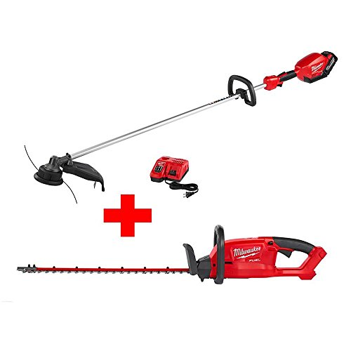 Affordable M18 FUEL 18-Volt Lithium-Ion Brushless Cordless String Trimmer Kit with Hedge Trimmer (Ba...