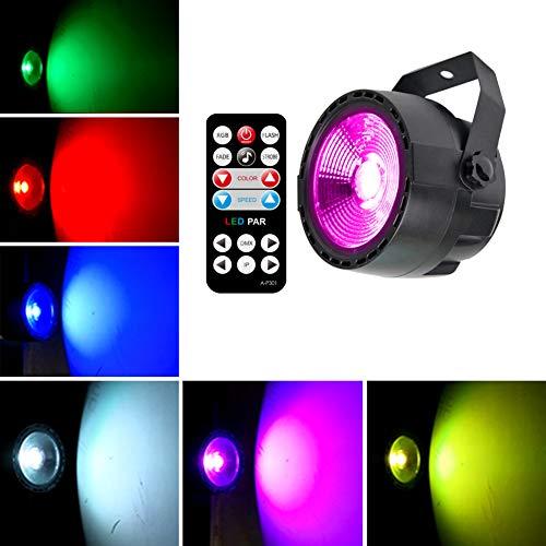 KOOT LED PAR DJ Licht Bühnenlicht Party Licht Disco Licht COB LED DMX Steuerung mit Fernbedienung für Bühnenbeleuchtung Party