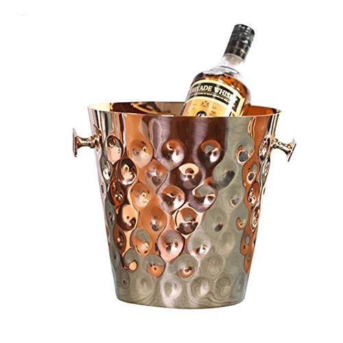 yunyu Cubo de Hielo para el hogar/Bar Cubo de Hielo, Cubo de Hielo de Acero Inoxidable, Simple Europeo Moderno Modelo Americano Habitación Gabinete de Vino Barra de Bar Cubo de Hielo Decoración Hogar