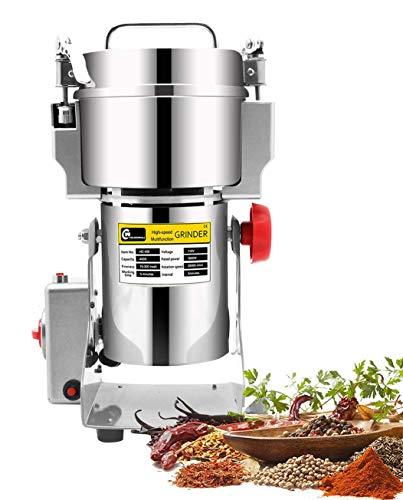 CGOLDENWALL 400g Molino de Cereales Eléctrico Molinollo de Hierba de Acero Inoxidable de Alta Velocidad Superfina para Hierba Café Grano Especias Condimentación y Más 30000RPM 110/220V