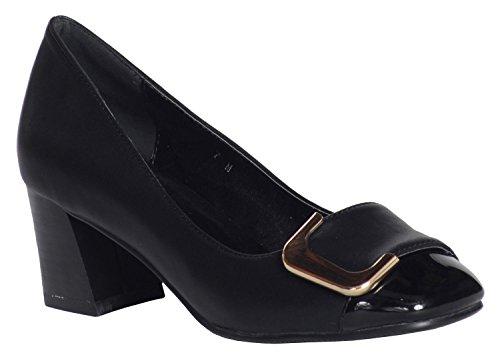 ANN CREEK Women's 'Angela' Buckle Pump Heels Black - 8