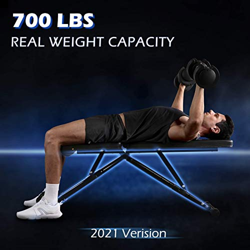 FLYBIRD Weight Bench, Adjustable Strength Training Bench for Full Body Workout with Fast Folding- 2021 Version
