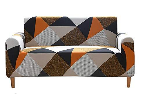 FENRIR Funda de Sofas 3 Plazas Impermeable Fundas para Sofa Antideslizante Cubierta para Sofa Protector para Sofás para Perros Gatos Lavable (Figuras Geometricas)