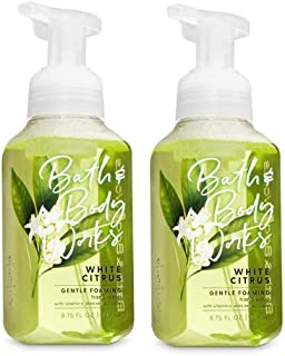 Bath & Body Works, Gentle Foaming Hand Soap, White Citrus (2-Pack)