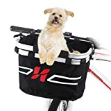 Lixada Bicycle Front Basket Small Pet Cat Dog Carrier Bicycle Handlebar Front Basket