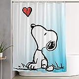 N / A Duschvorhang Dekor S-noopy Stars Home Decor Duschvorhang, zeitgenössischer Badezimmervorhang, Leicht zu pflegene Stoff-Duschvorhänge.