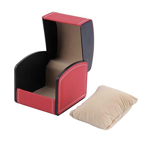 Boîte à montre Cuir avec oreiller montre bracelet Box-red