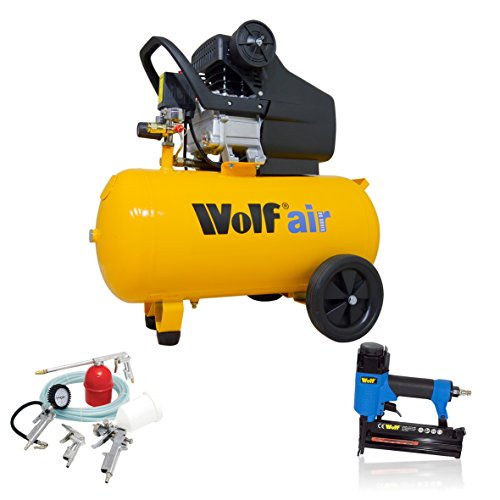 Wolf Sioux 50, 2,5HP, 9,6CFM, 230V, PMS 116PSI Compresseur d'air 50litres avec boîte à...