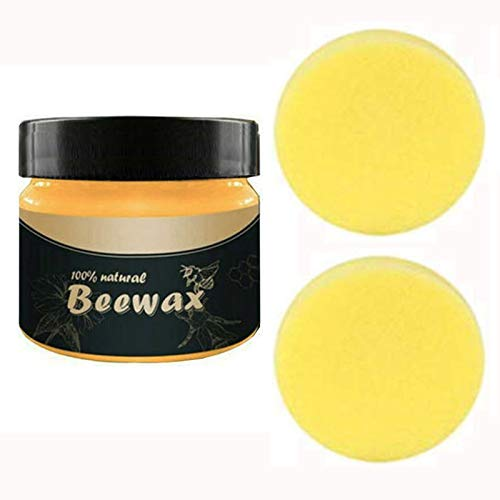 Wood Seasoning Beewax,Natural Traditional Beeswax Polish for Wood & Furniture, All-Purpose Beewax for Wood Cleaner and Polish Wipes, Non Toxic for Furniture to Beautify & Protect, No Build-Up (3 PCS)