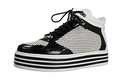 Gerry Weber Novara 04 G14404 - Zapatillas deportivas para mujer, color blanco y negro, color Blanco, talla 37 EU Weit