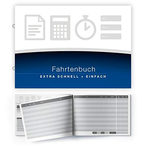 Fahrtenbuch - EXTRA SCHNELL ausfüllbar | 64 Seiten - 420 Fahrten | mit Ringösen zum Abheften in A4 oder A5 Ordner | Heft im A5 Format - für alle KFZ, PKW und LKW
