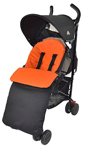 Saco/Cosy Toes Compatible con Maclaren Techno XT/Quest/XLR/volo–Color Naranja