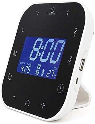 7,5 cm, 4,5 cm, 7,5 cm, LCD, Azul, AA, 1.5V, LR6 relojes de mesa Braun BNC 009 Negro
