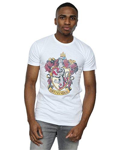 Harry Potter Herren Gryffindor Distressed Crest T-Shirt XXX-Large Weiß