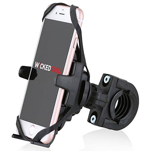 Wicked Chili Fahrradhalterung mit Sicherungsband kompatibel mit Apple iPhone 11 Pro / XS / X / 8 / 7 / 6S / 6 (4,7 Zoll) / SE / 5 (Schnellverschluss, Made in Germany)