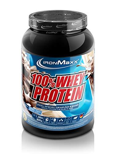 IronMaxx 100% Whey Protein – Whey Eiweißpulver auf Wasserbasis – Proteinpulver mit Schoko-Kokos Geschmack – 1 x 900 g Dose