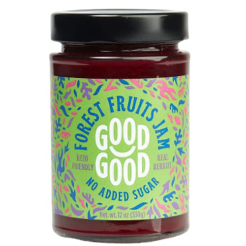 Sweet Forest Fruit Jam by Good Good - 12 oz / 330 g - Keto Friendly No Added Sugar - Keto - Vegan - Gluten Free - Diabetic