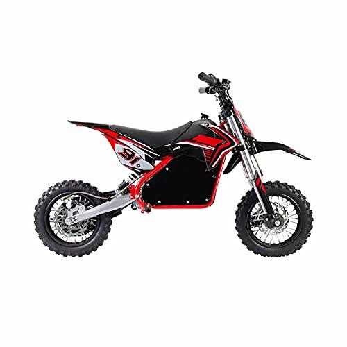 ELITYON Moto Eléctrica Niños Desde 6-7 años | Minimoto Eléctrica Hulk Roja | Moto eléctrica 1060W y 24v | También para Adultos < 60 kg