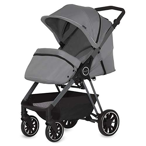 Dream On Me Strider Stroller Lightweight Stroller with Compact Fold, Multi-Position Recline   Lightweight Stroller 0-36 Months, Gray