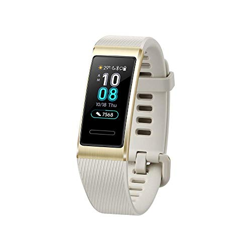 Huawei Band 3 Pro - Smart Band Fitness Activitiestracker with 0.95' AMOLED Touchscreen, 24/7 Continuous Heart Rate Monitor, Up to 12 Days usage, Scientific Sleep Monitor, GPS, 5ATM Waterproof, Gold
