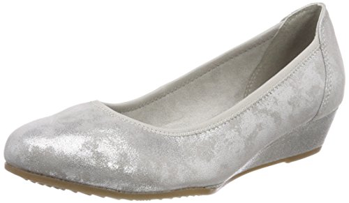 Jana Damen 22203 Pumps, grau (grey/silver), 38 EU
