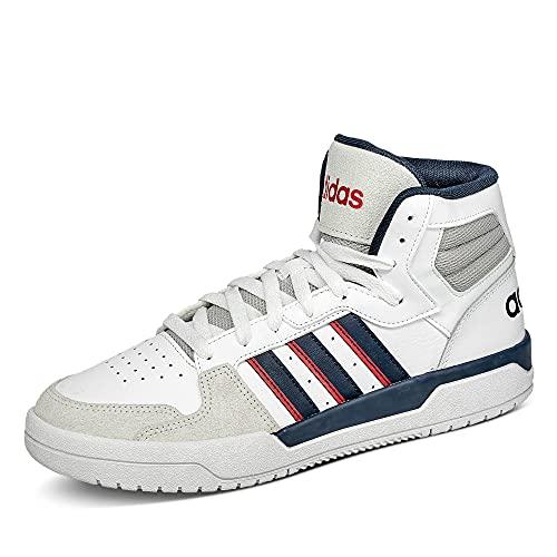 adidas ENTRAP Mid, Zapatillas de Baloncesto Hombre, FTWBLA/Maruni/Rojint, 47 1/3 EU