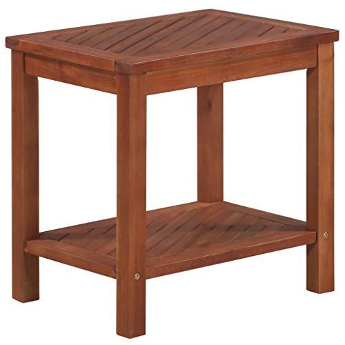 GOLDFAN Tavolino da Caff/è a 2 Livelli in Vetro Chiaro con Portaoggetti Trasparente Tavolino da T/è con Piedini in Acciaio Inossidabile Design Multifunzionale