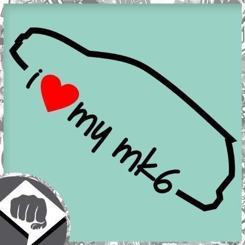 Unbekannt I Love My MK - MK 6 Sticker Bomb Autocollant OEM - Dub - Noir, l'intérieur de l'adhésif