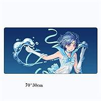 マウスパッドアニメセーラームーンラージXl 70 * 30CmゲームロッキングエッジノンスキッドキーボードラップトップデスクマットA