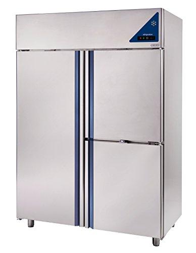 Gastlando - Premium Edelstahl Gewerbe-Tiefkühlschrank - Umluft - 1400 Liter - 3 Edelstahltüren - 2 Gefrierzellen -18° bis -22 °C