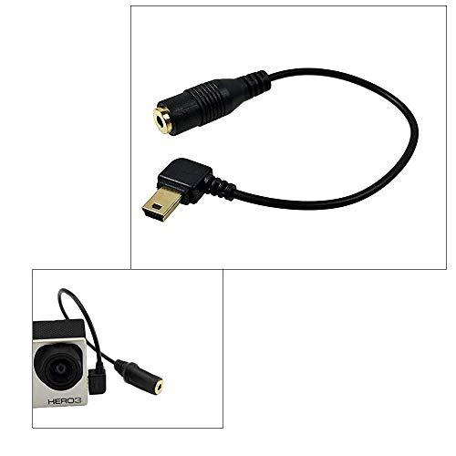 Taoric Cavo Adattatore Audio Microfono Da 3,5 Mm Per Gopro Hero 3/3 + / 4
