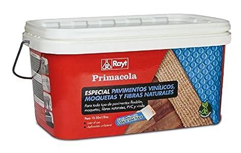 Rayt 555-23 Primacola C-15 Adhesivo acrílico Especial PVC, pavimentos vinílicos, moquetas, revestimientos Textiles y Fibras Naturales. SIN disolventes. Fácil aplicación con espátula, 5kg