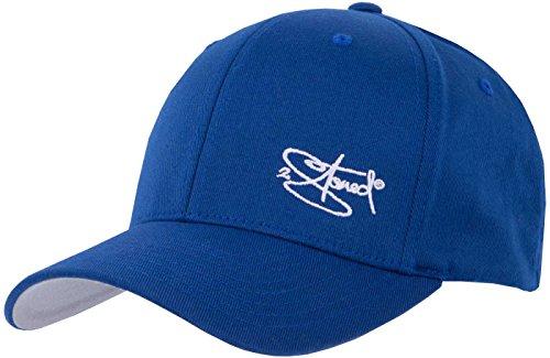 2Stoned Flexfit Cap Wooly Combed Royal Blau mit Stick, Größe S/M (56 cm - 58 cm), Basecap für Damen und Herren