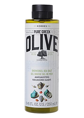 Korres OLIVE & SEA SALT Duschgel, 1er Pack (1 x 250 ml)