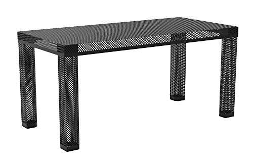 Novogratz Iconic Modern Metal Coffee Table, Black