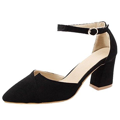 COOLCEPT Damen Wedding Shoes High Heel Sandalen D'orsay Schuhe Black Gr 33 Asian