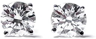 IGI Certified 1/3 cttw Round Cut 14K White Gold Diamond Stud Earrings for Women