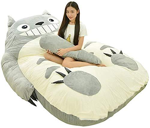 Wxyfl My Neighbor Totoro Plush Sleeping Bag Tatami Bed Double Adult Beanbag Cojín De Dibujos Animados para Niños Colchón Creativo Encantador Plegable Dormitorio Pequeño Sofá Cama Silla,a,190x120cm