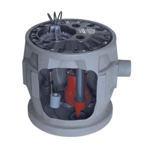 Liberty Pumps P382LE41 Pro380 Series Simplex Sewage System, GRAY