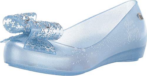 Melissa Kids Mel Ultragirl + Frozen Ballet Flat, Pearl Blue Glitter, Size 12 Little Kid