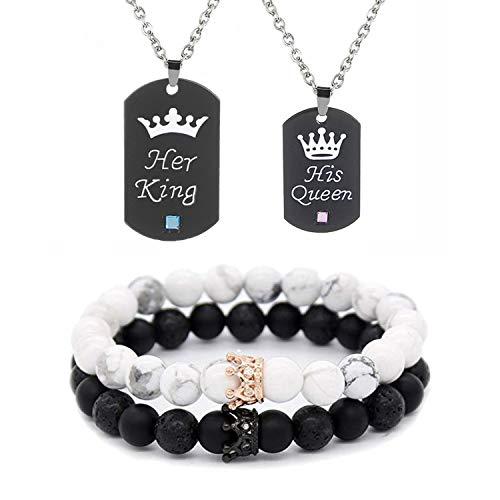 Couple Necklace Bracelet