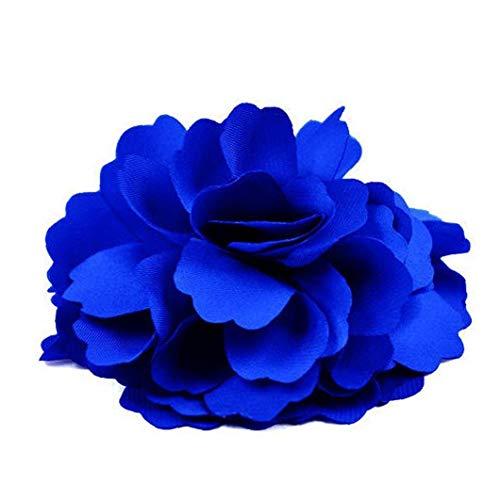 TrifyCore Femmes Cheveux Barrette Broche épingle à Cheveux Belles Satin Fleur de Pivoine Style (Bleu Royal), Bijoux nouveauté