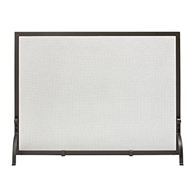 Uniflame, S-1158, Small Single Panel Olde World Iron Finish Screen from Uniflame