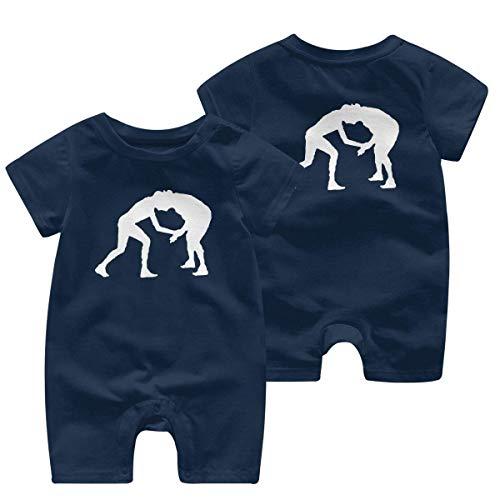 Wrestling Herren Baby Jungen Strampler, kurzärmelig, 0–24 Monate Gr. 12 Monate, einfarbig